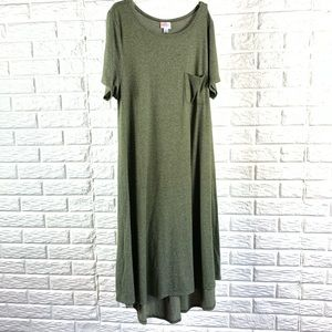 LuLaRoe Carly heather green dress size L